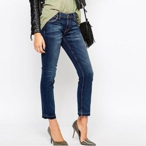 Current Elliot Raw Hem Crop Ankle Jeans